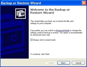 Backup and Restore your Registry in Windows XP