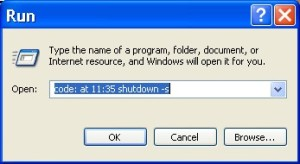 Shutdown Timer, Run Method